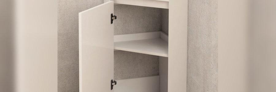 Долен ъглов PVC шкаф за баня